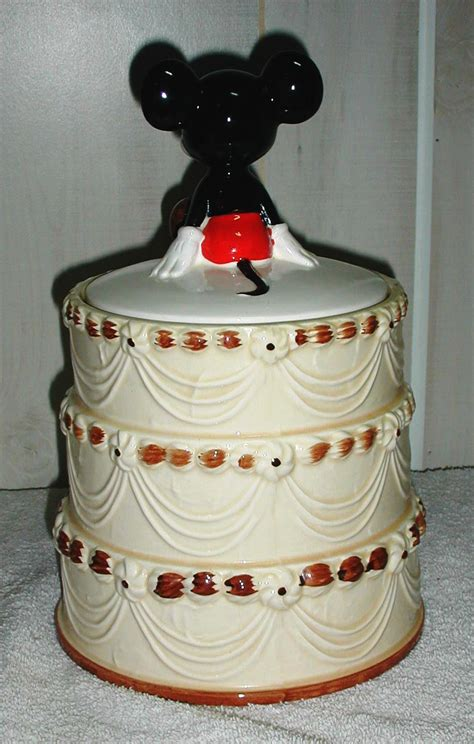 MICKEY MOUSE 50TH ANNIVERSARY BIRTHDAY CAKE COOKIE JAR by
