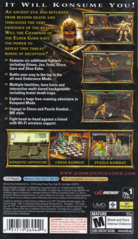 Mortal Kombat: Unchained for PlayStation Portable - Sales
