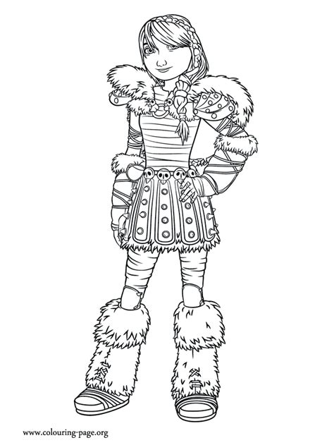 How to Train Your Dragon 2 - Astrid coloring page